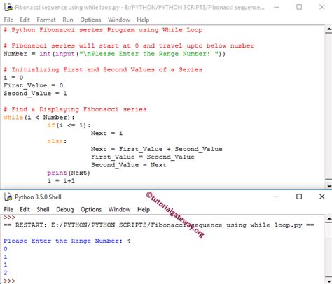 pattern analysis python python fibonacci series program