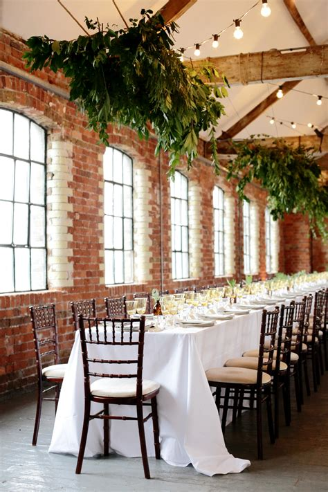 dom layout event botanical wedding at loft studios london by liz linkleter