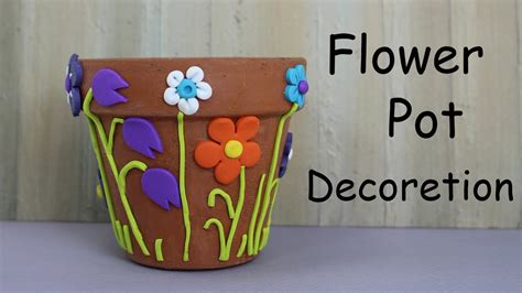 how to decorate a pot at home how to decorate a flower pot home decor youtube
