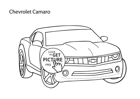 Chevy Camaro Coloring Page Az Coloring Pages Camaro Coloring Pages