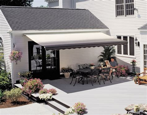 sunsetters awnings 18 ft sunsetter vista retractable awning manual outdoor deck patio awnings ebay