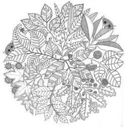 coloring page autumn mandala autumn 1