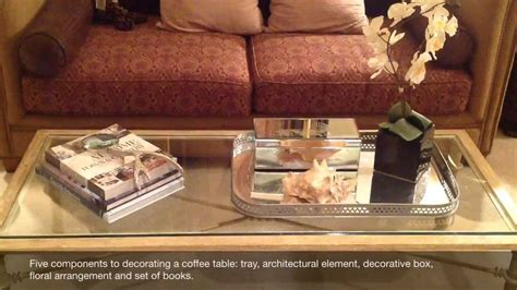 designer tip decorating a coffee table