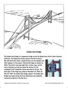 printable coloring pages golden gate bridge golden gate bridge coloring page november worksheets