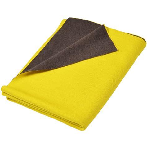 Decke Doubleface by Merino Decke Doubleface Gelb Braun Merino Decken