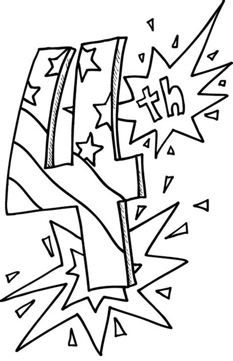 4th of july for kids coloring pages