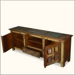 Home artisan collection solid wood handcrafted rustic tv stand media