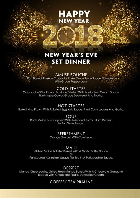 new year menu new year s 2018 villasong saigon boutique hotel
