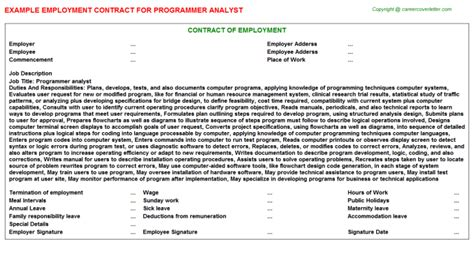 Cmm Programmer Cover Letter by Cmm Programmer Employment Contracts