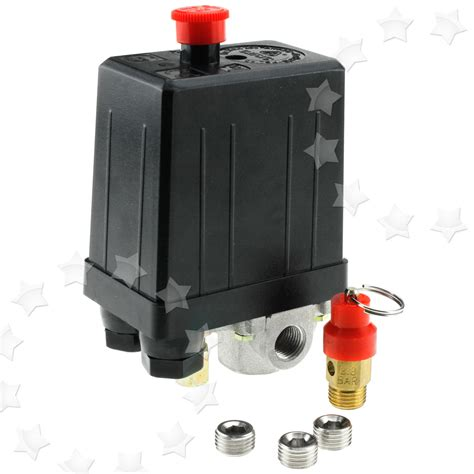 single phase air compressor pressure switch safety value blanking plugs ebay