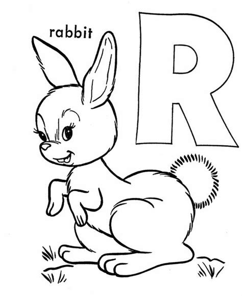 R For Rabbit Coloring Page by Letter R Coloring Pages For Toddlers Letter R Coloring