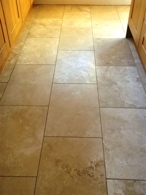 Travertine Floor Tile Restoring The Shine On A Travertine Floor Tiles In