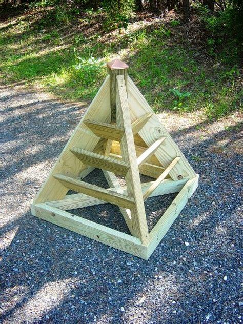 build  vertical pyramid planter  herbs