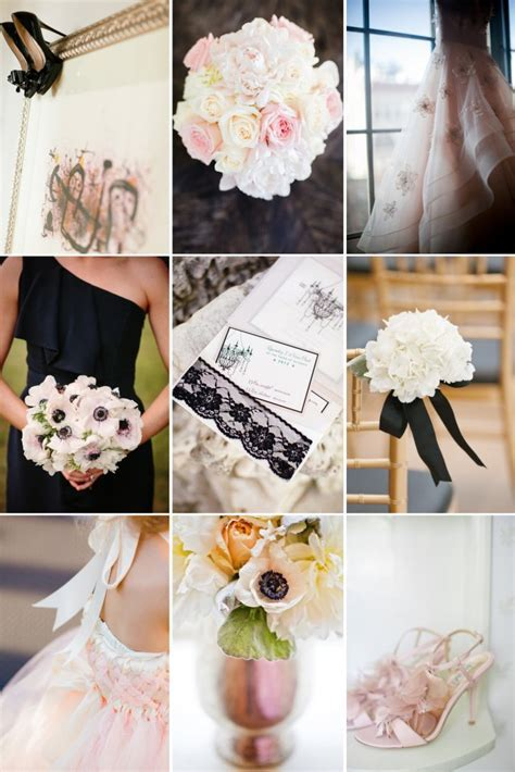Blush, Ivory and Black Dreamy Wedding Color Inspiration