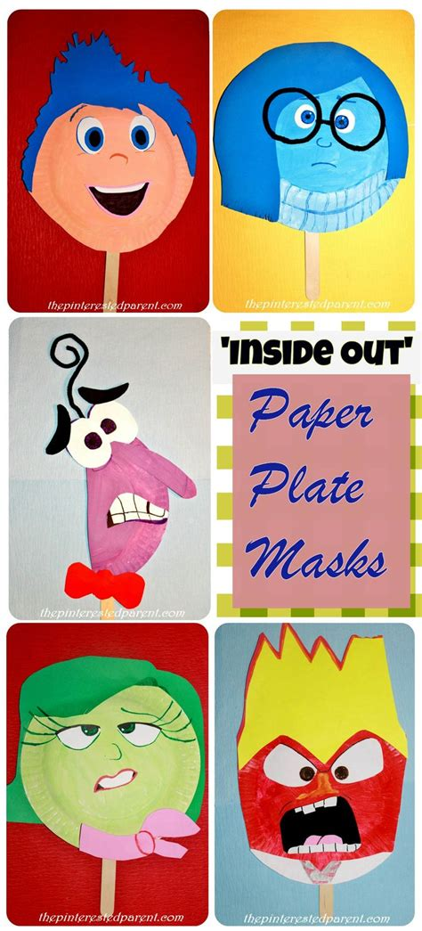How To Make Masks Out Of Paper Plates - inside out paper plate masks craft pinteres