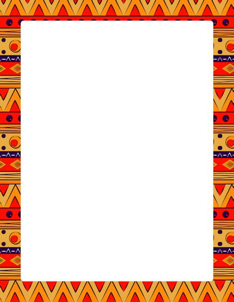 Tribal Pattern Border | page border featuring colorful tribal patterns free