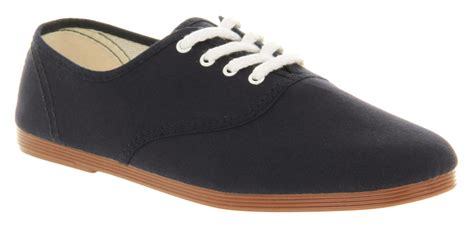 mens flossy flossy lace up navy canvas casual shoes