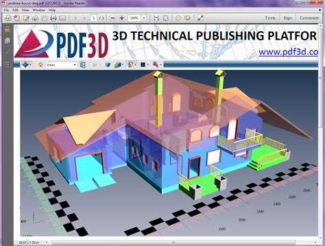 autocad tutorial 3d house design pdf convert dwg to 3d pdf dwg 3d pdf conversion pdf3dpdf3d
