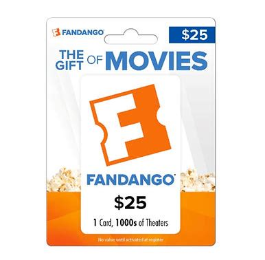 Can I Use Fandango Gift Card At The Theater - can i use my fandango movie gift card at ua tara in atlanta photo 1