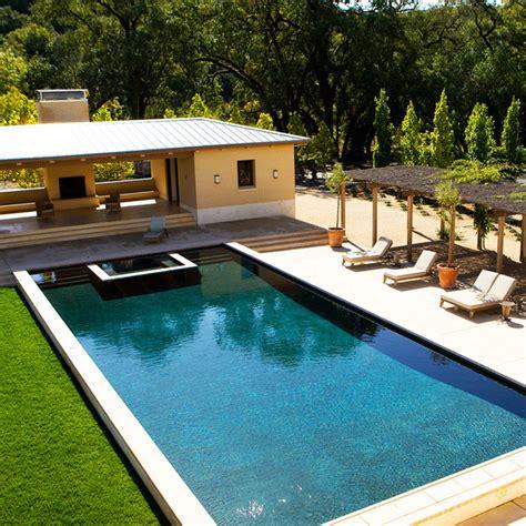 mediterranean pools triyae com mediterranean style backyard with pool