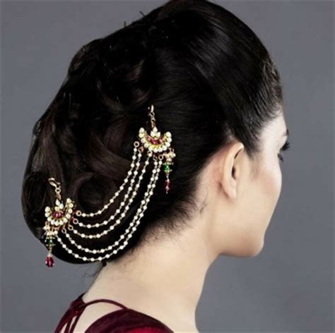 hairstyles with hair jewelry indian bridal hairstyles accessories fit for a queen