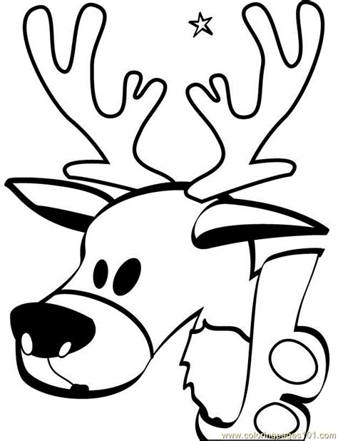 coloring pages reindeer head animals gt deer free