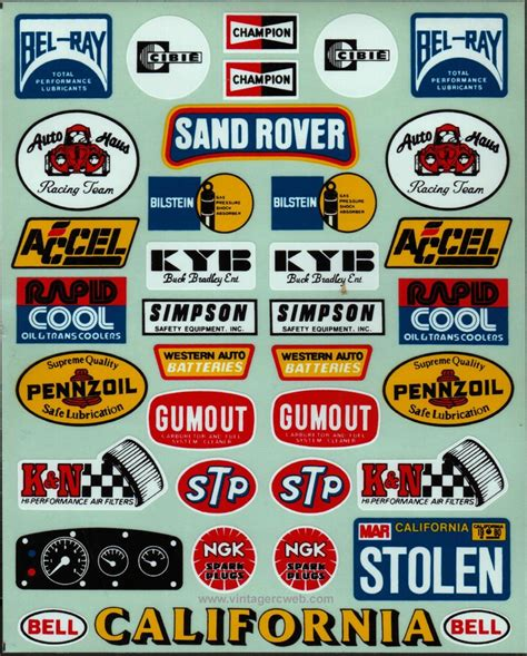 Classic Motorsport Aufkleber model car racing and decals on
