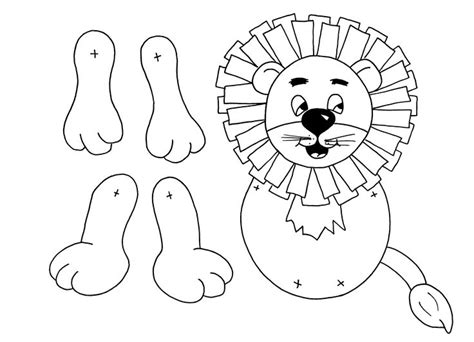 pin printable lion paper bag puppet template on pinterest