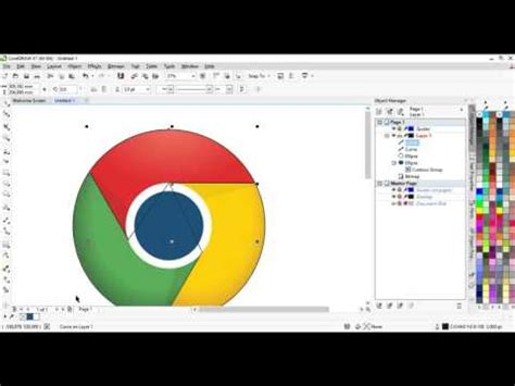 tutorial coreldraw membuat logo youtube tutorial membuat logo chrome corel draw x7 youtube