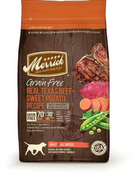 merrick grain free food merrick grain free real beef sweet potato recipe food 25 lb bag