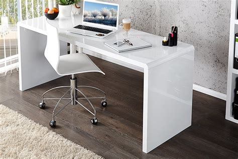 Enzo White High Gloss Computer Office Desk Furniturebox White Gloss Desks