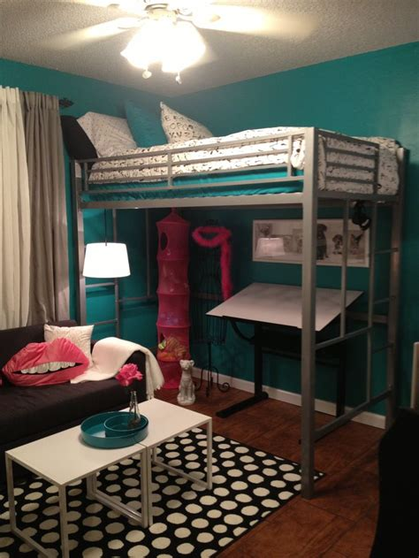 teal teenage bedroom ideas teen room tween room bedroom idea loft bed black and white teal turquoise hot pink