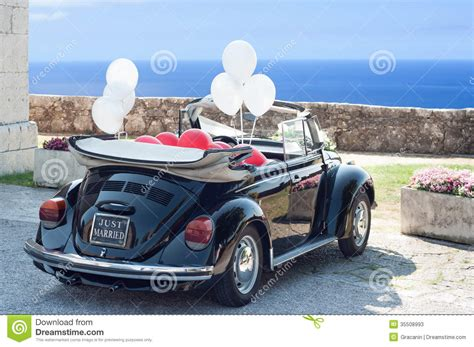 wedding car audio just married stock photos image 35508993