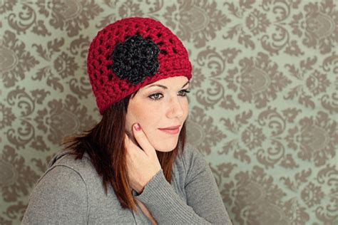 items similar to womens crochet hat womens crochet beanie