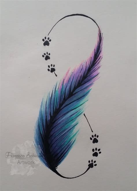 feather tattoo hd pluma estilo acuarela feather watercolor doglovers