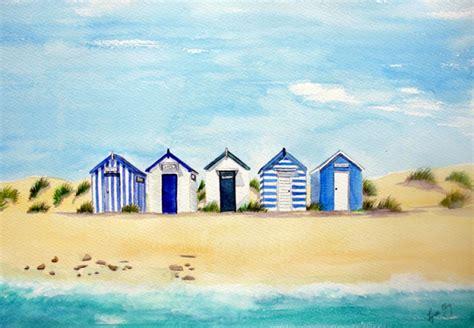 Large Wall Murals Uk beach huts lynette amelie paintings lynette amelie