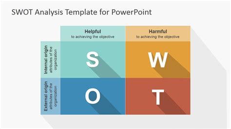 swot analysis template for powerpoint flat swot powerpoint template slidemodel
