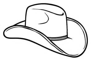 hat coloring cowboy hat outline clipart best