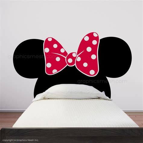 mickey mouse headboard minnie mouse inspired headboard mickey ears with bow wall