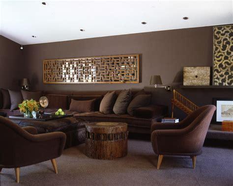 braunes wohnzimmer accoglienti pareti marrone arredare casa