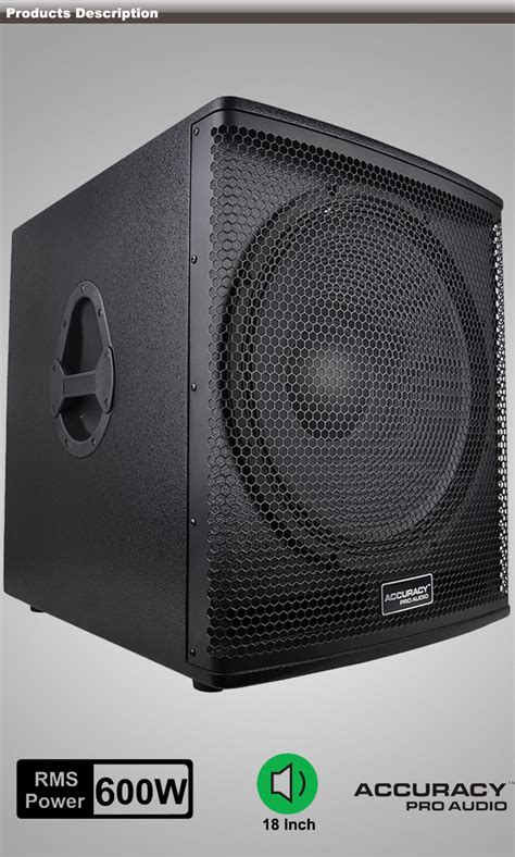 Speaker Wisdom 18 Inch dj bass speaker 18 inch subwoofer speaker wh18 view 18