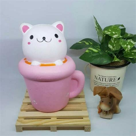 Squishy Kucing squishy kucing gelas glass cat jumbo toys