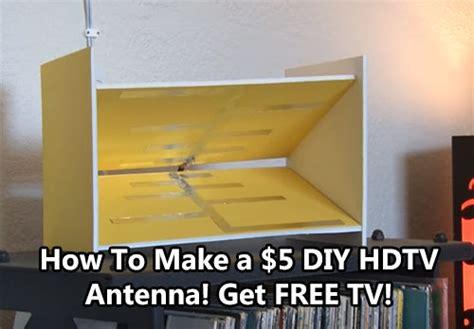 5 diy hdtv antenna get free tv shtf prepping
