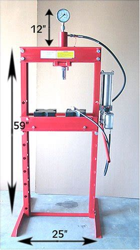 1 Ton Hydraulic Floor Press by 20 Ton Air Floor Hydraulic Shop Press