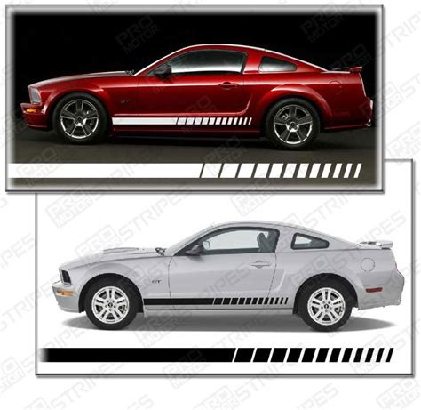 ford mustang 1994 2016 side rocker panel strobe stripes