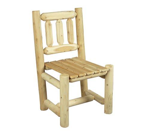 chaise en bois rondins de cedre blanc cedre rondins