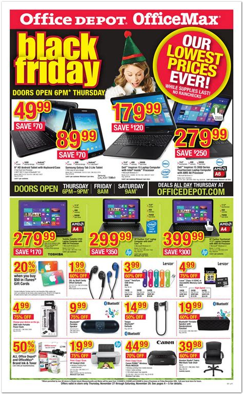 office max office depot black friday ad 2014 common