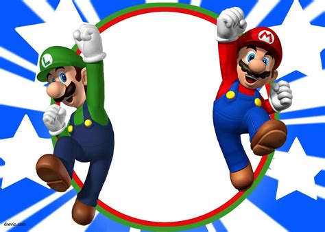 Free Printable Super Mario Bros Invitation Mario Birthday Super Mario Mario Bros Super Mario Bros Birthday Invitation Templates