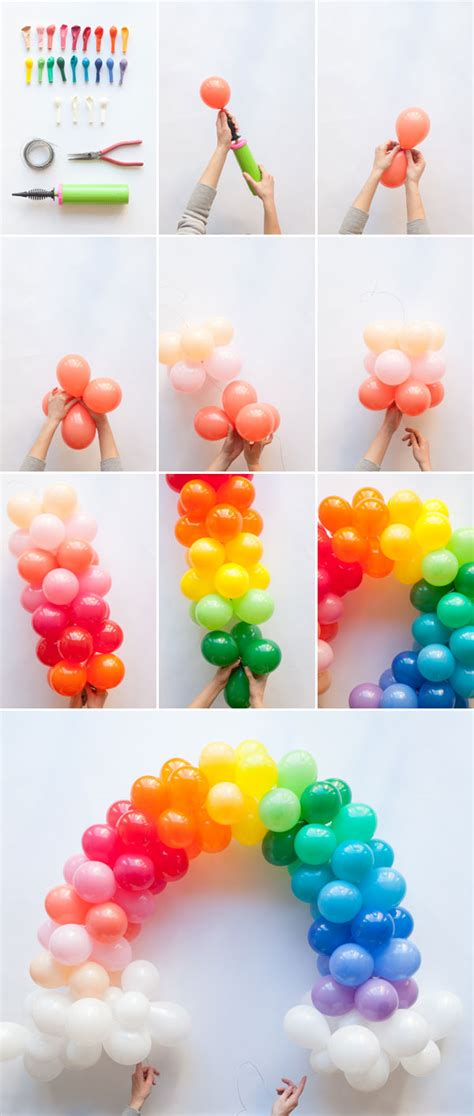 balloon diy decorations mini rainbow balloon arch diy