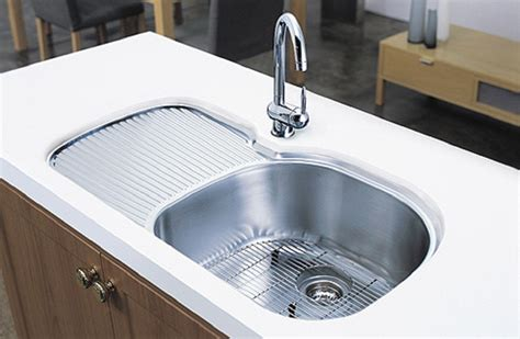 Handmade Kitchen Sinks - undermount stainless steel sinks with drainboard sinks ideas
